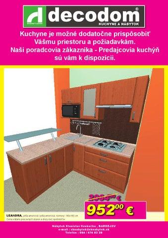 9addd2cd4b8a Vypredaj kuchyn jun by Decodom - Slovenský výrobca nábytku - issuu
