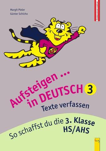 Aufsteigen In Deutsch Texte Verfassen 3 By Gg Verlagsgesellschaft