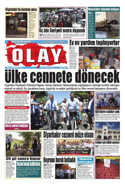 13 08 2013 Gazete Sayfalari By Diyarbakir Olaygazetesi Issuu