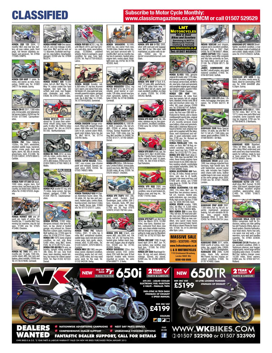 Motor Cycle Monthly - September 2013 by Mortons Media Group