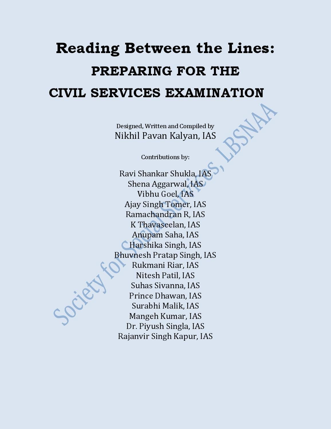 Preparing for civil services examination by Parth Pandya - issuu