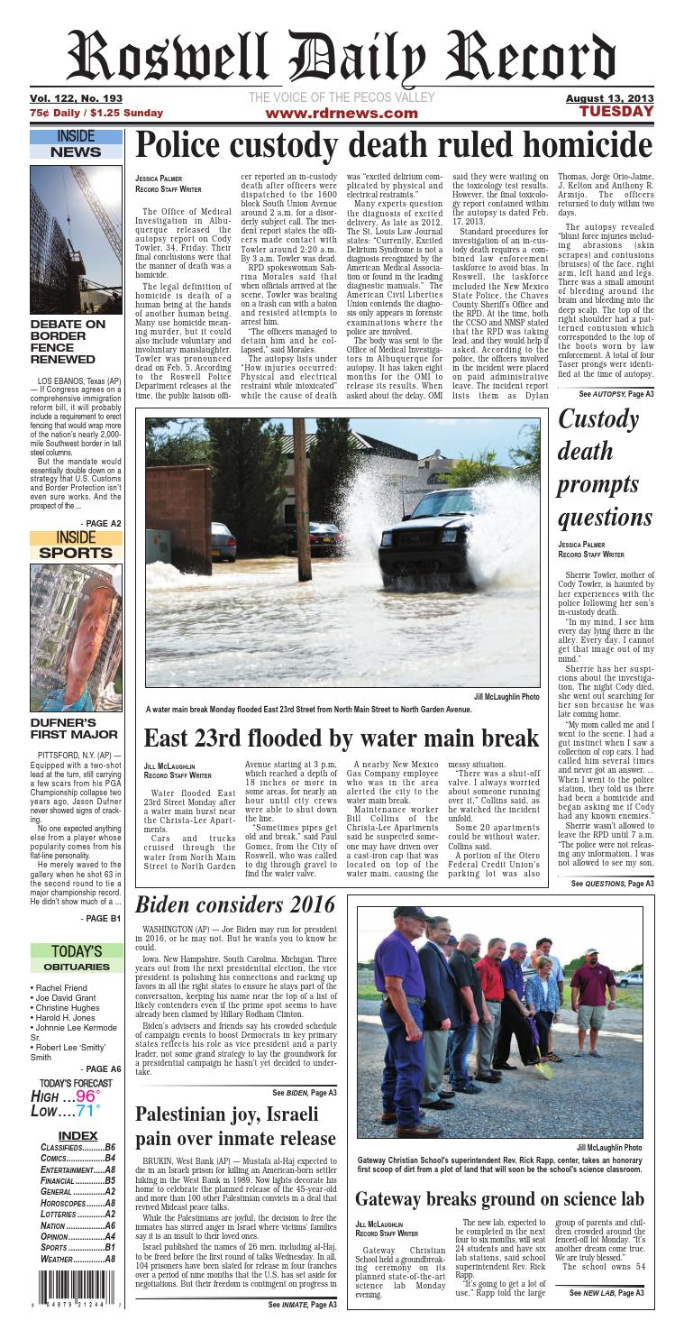 Roswell Daily Record 8 13 2013 By Roswell Daily Record Issuu