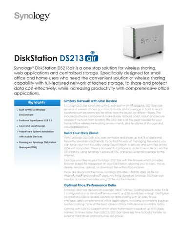 ENCLOSURE NAS SYNOLOGY by Technotrend S  A de C V  - issuu