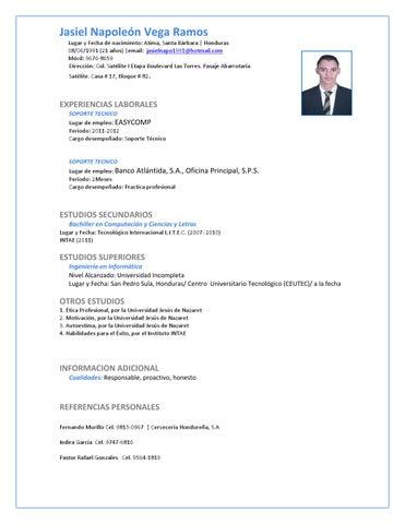 Curriculum Vitae Jasiel Vega By David Alejandro Issuu