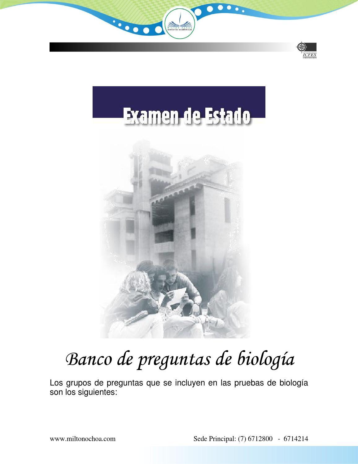 Biologia simulacro icfes by ANTONIO - issuu