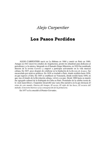 Pasos perdidos by Alejoval - issuu