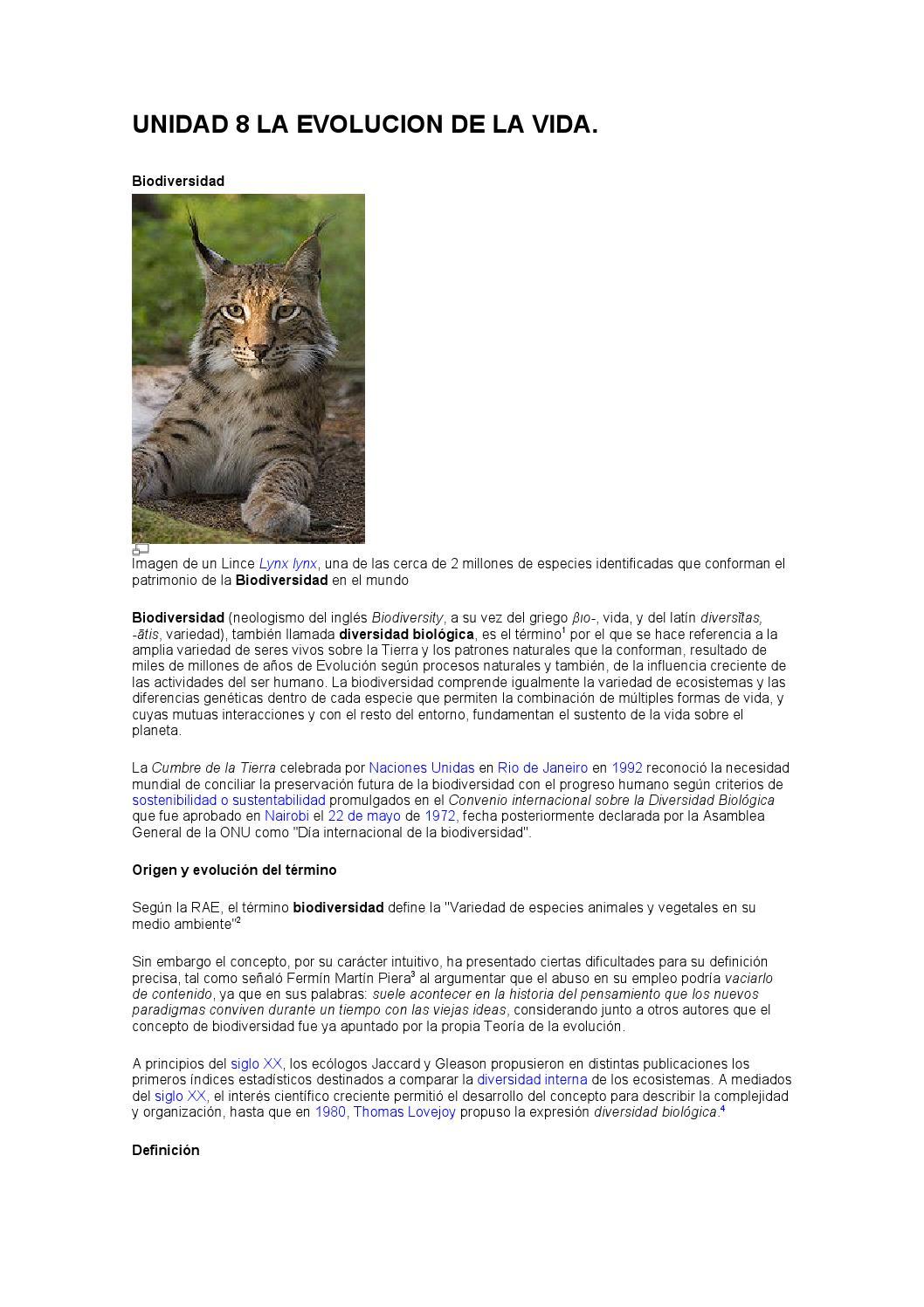 Unidad 8 la evolucion de la vida by bety459 - issuu