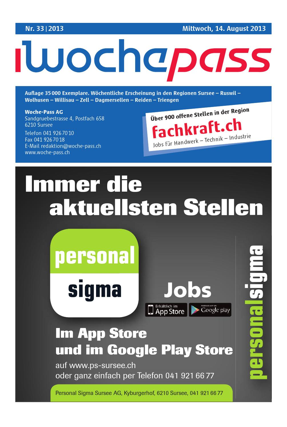 Woche-Pass   KW33   14. August 2013 by Woche-Pass AG - issuu