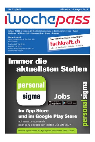 Woche Pass Kw33 14 August 2013 By Woche Pass Ag Issuu