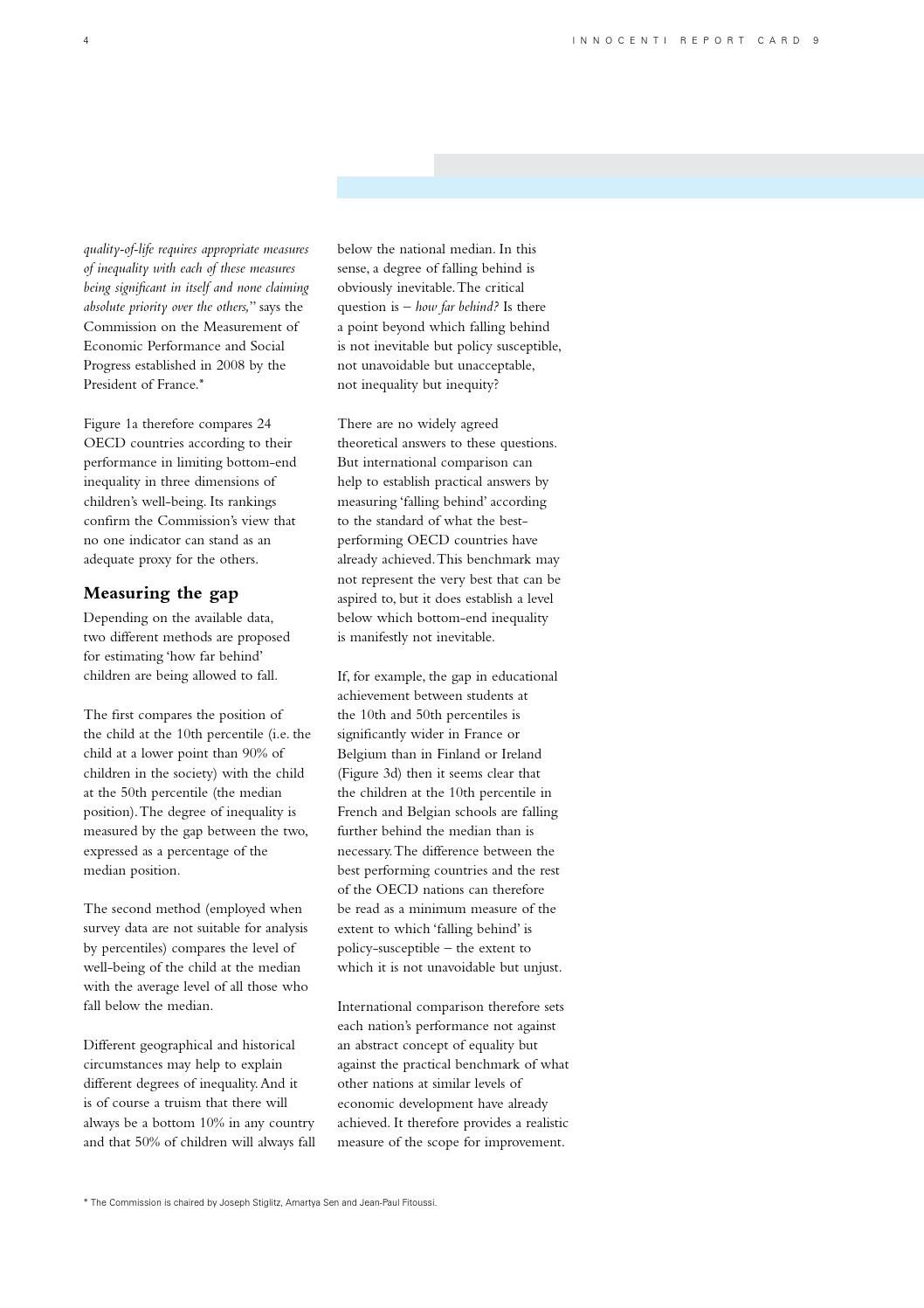 No Inequality Left Behind >> Report Card 9 2011 The Children Left Behind By Unicef Norge Issuu