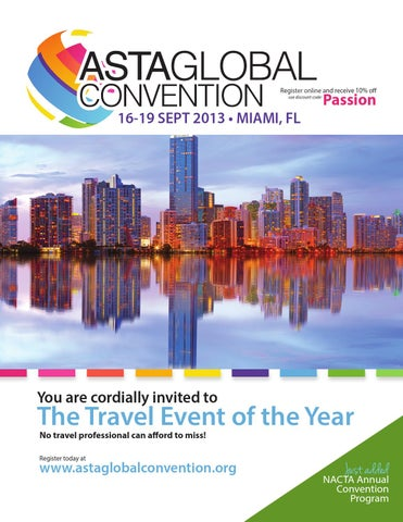 ASTA Global Convention & NACTA Annual Convention 2013 by