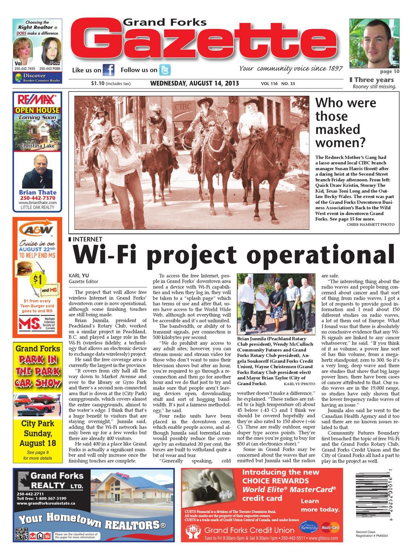Grand Forks Gazette, August 14, 2013 by Black Press - issuu