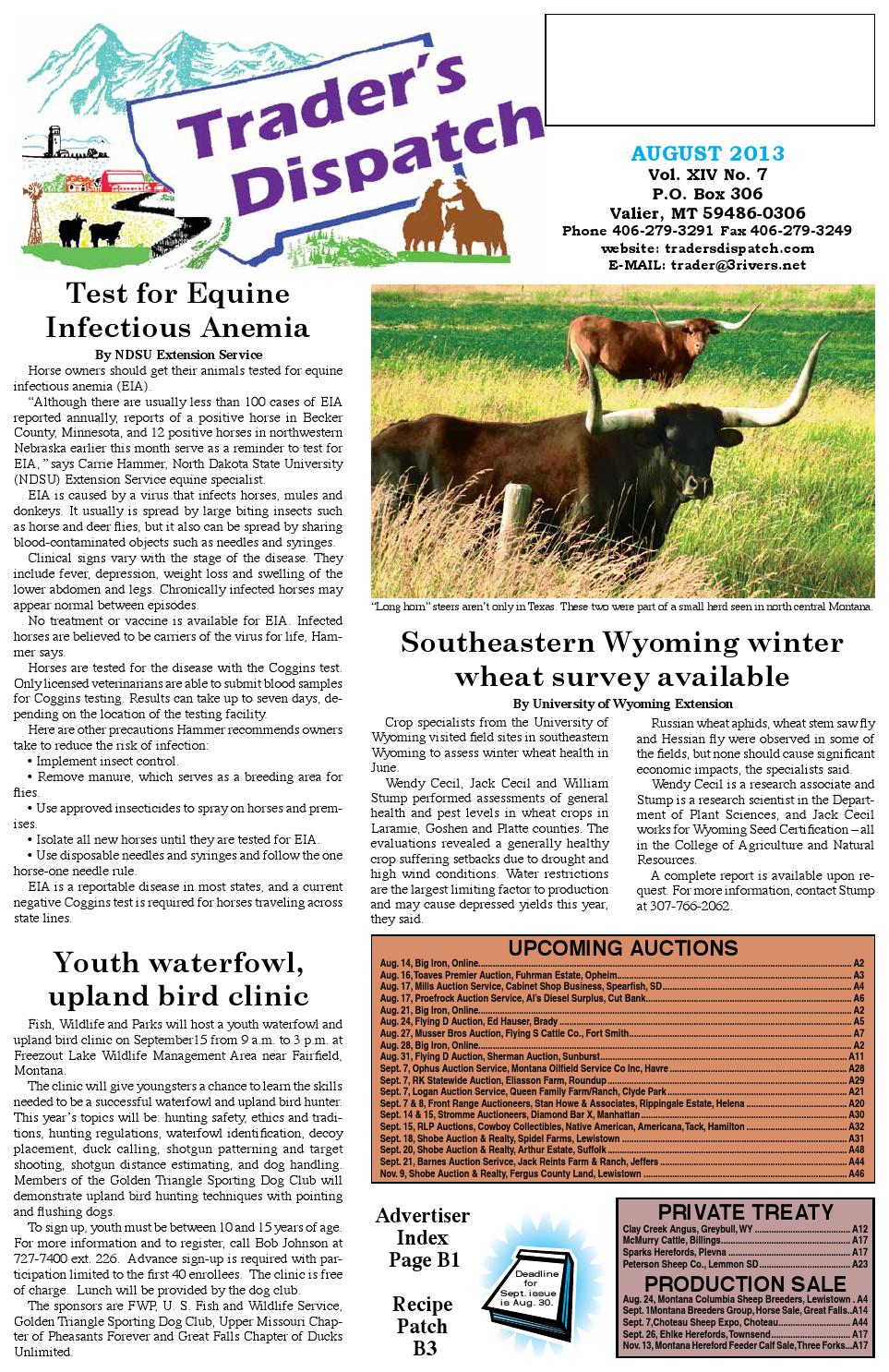 August 2013 by The Trader\'s Dispatch - issuu