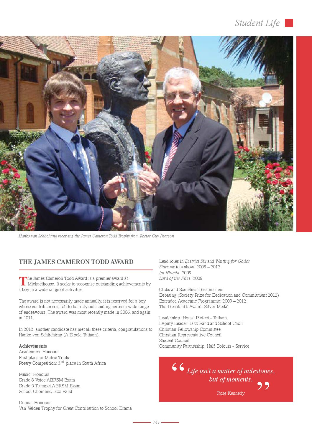 Michaelhouse Chronicle 2012 by Liquid Online - issuu