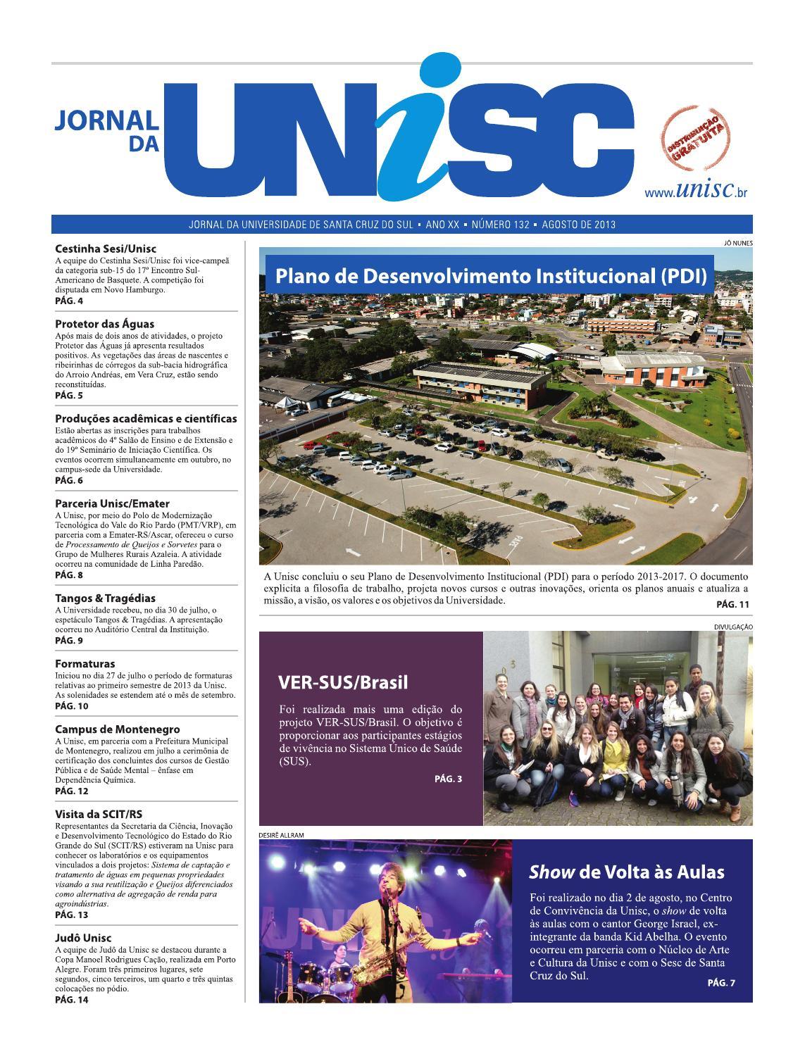 4b8eab1101b Jornal da Unisc 132 by UNISC Santa Cruz do Sul - issuu