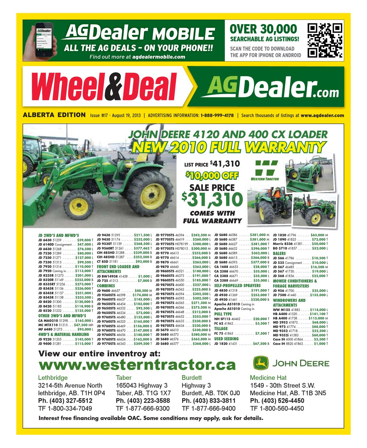49f2409d Wheel & Deal Alberta, August 19, 2013 by Farm Business Communications -  issuu