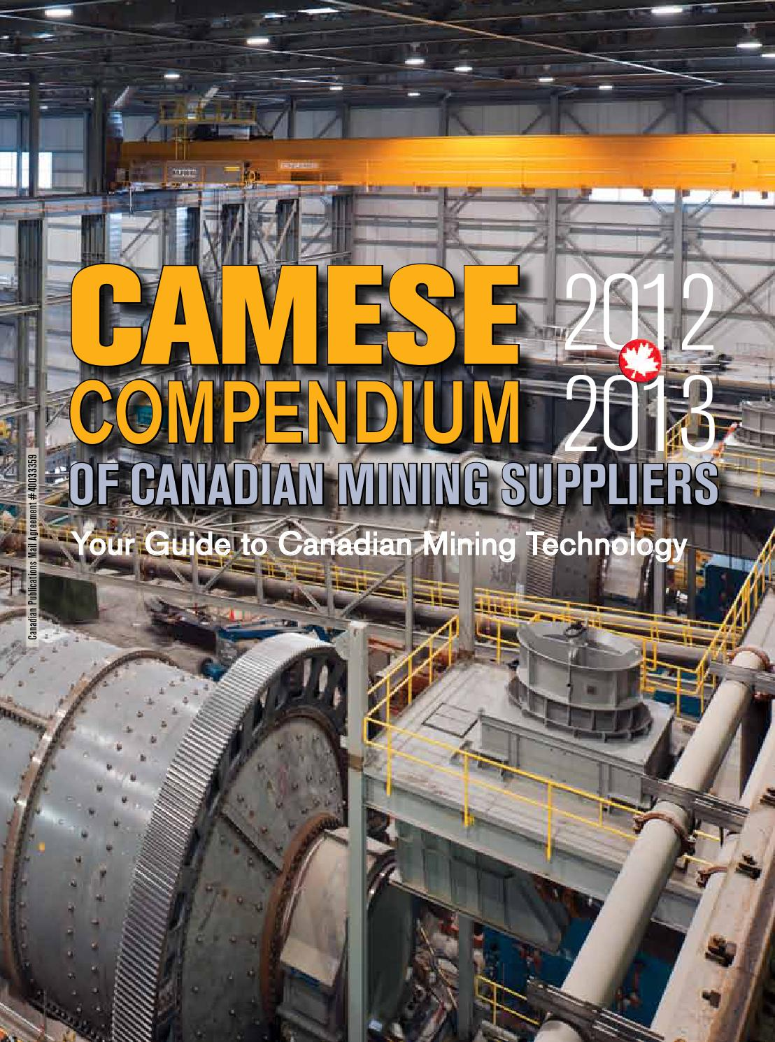 CAMESE Compendium of Canadian Mining Suppliers 2012-2013 by