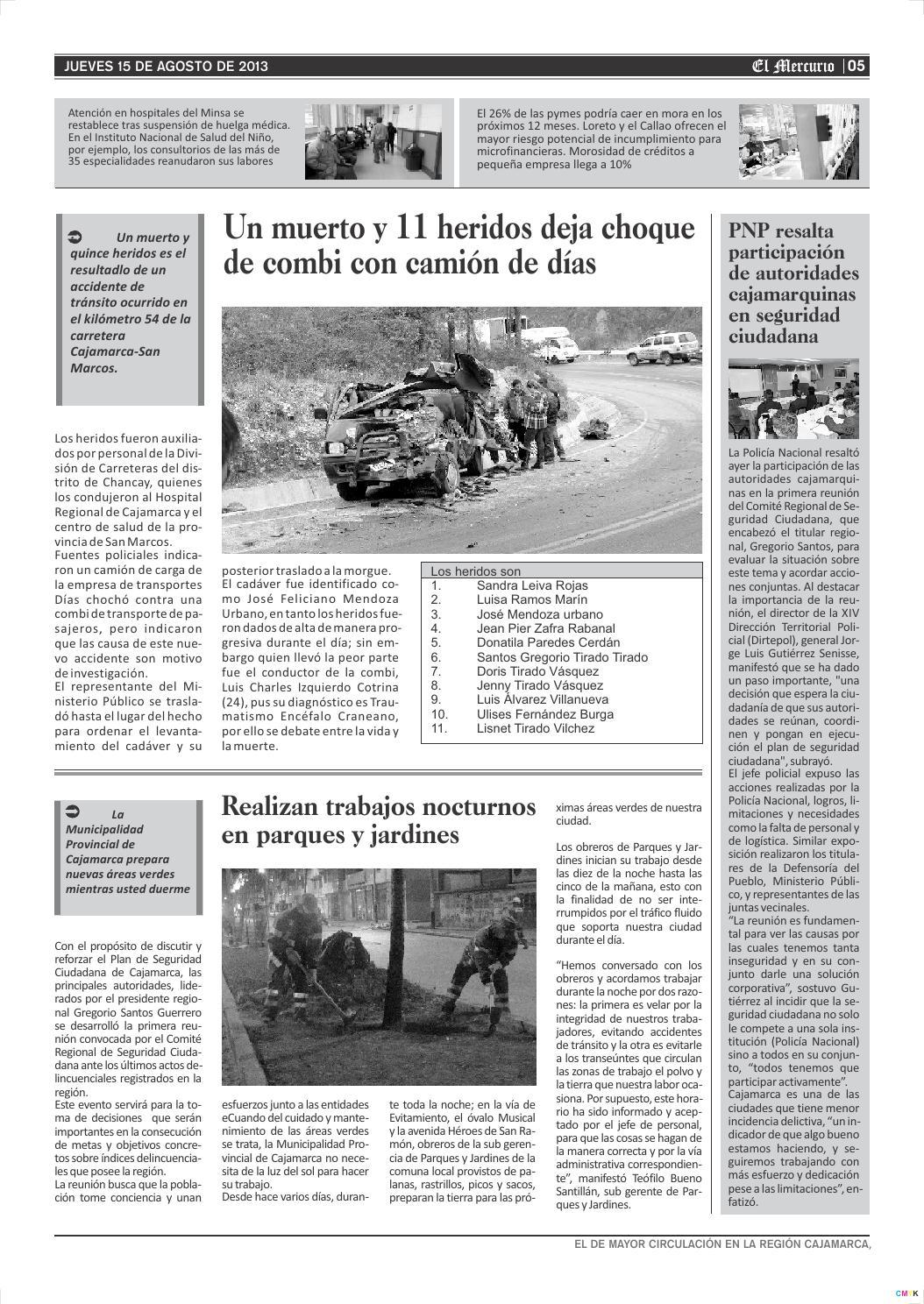 15 08 2013 by El Mercurio Cajamarca - issuu