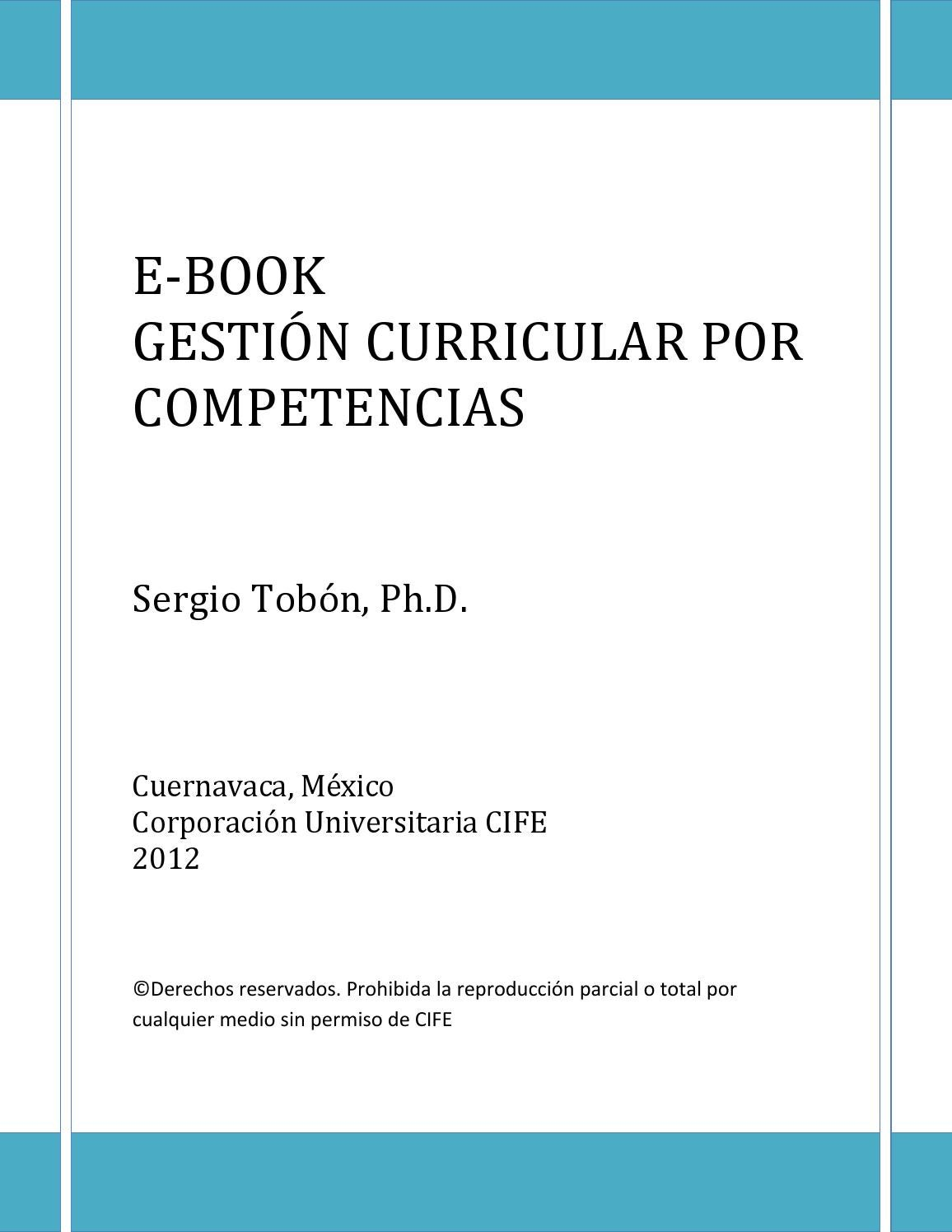 E book gestion curricular y socioformacion by CIFE, Centro ...