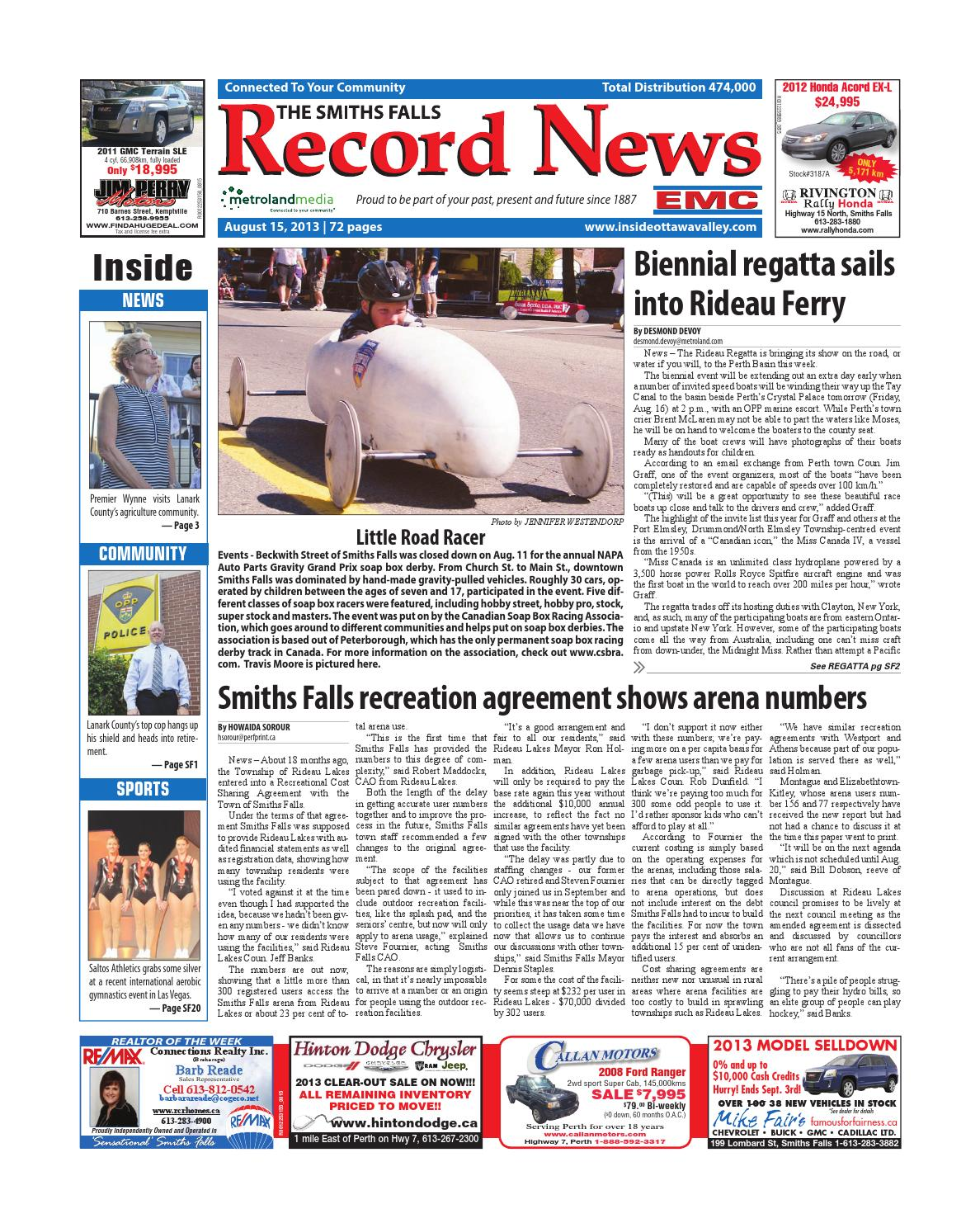 Smithsfalls081513 by Metroland East - Smiths Falls Record News - issuu
