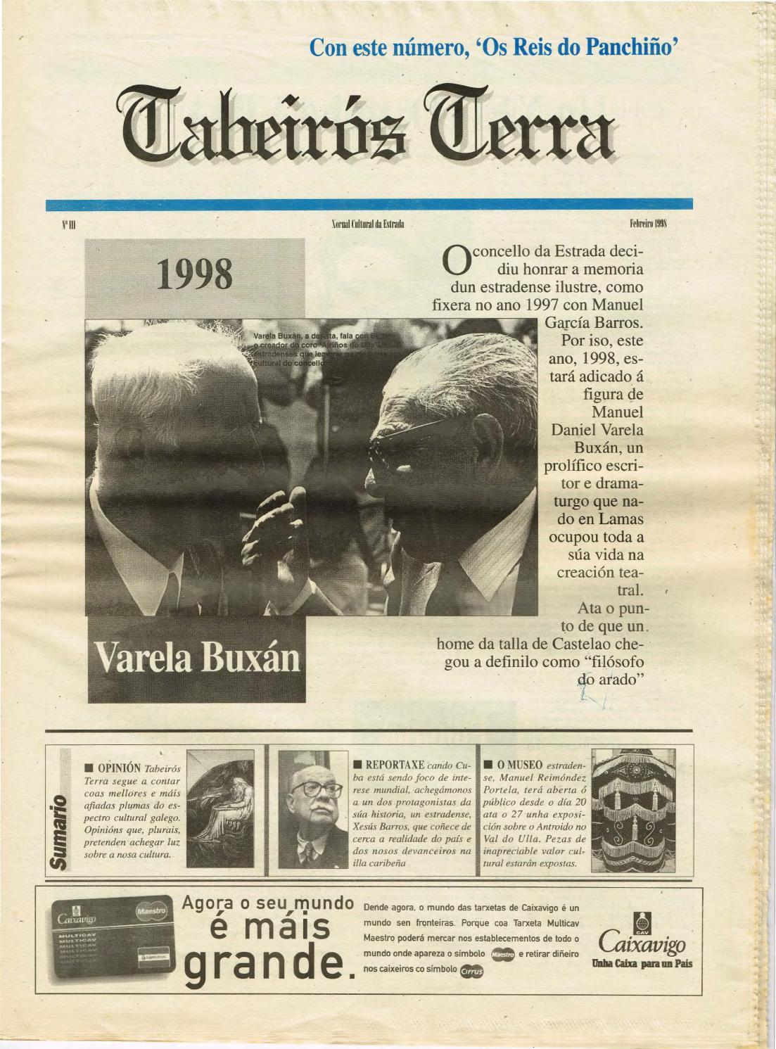 Tabeiros Terra N 3 Febreiro 1998 By Asociaci N Cultural  # Muebles El Zar Toedo
