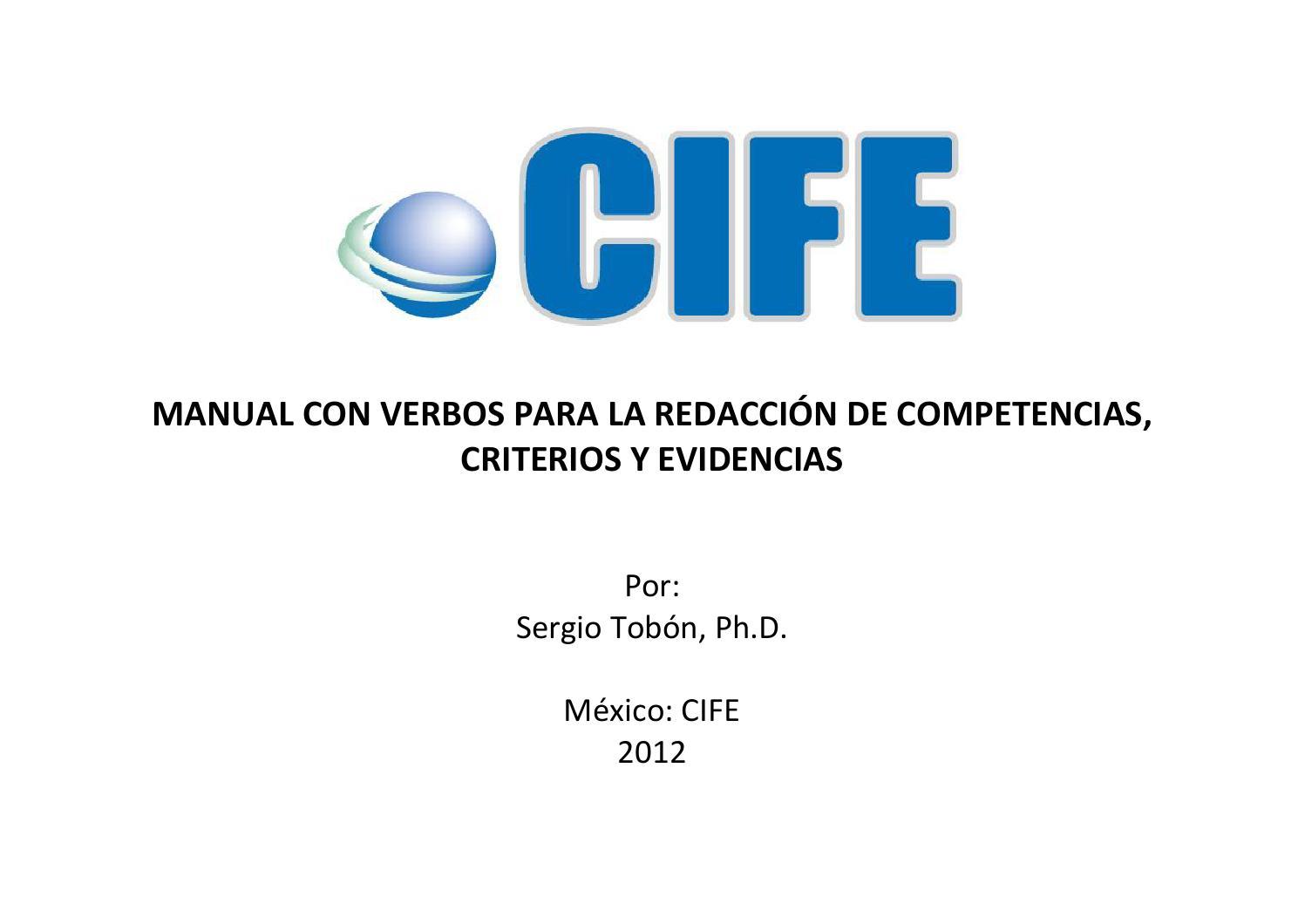 Manual basico de redaccion de competencias by CIFE, Centro ...