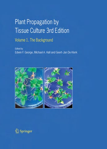 plant propagation by tissue culture george 2007 parte1 by