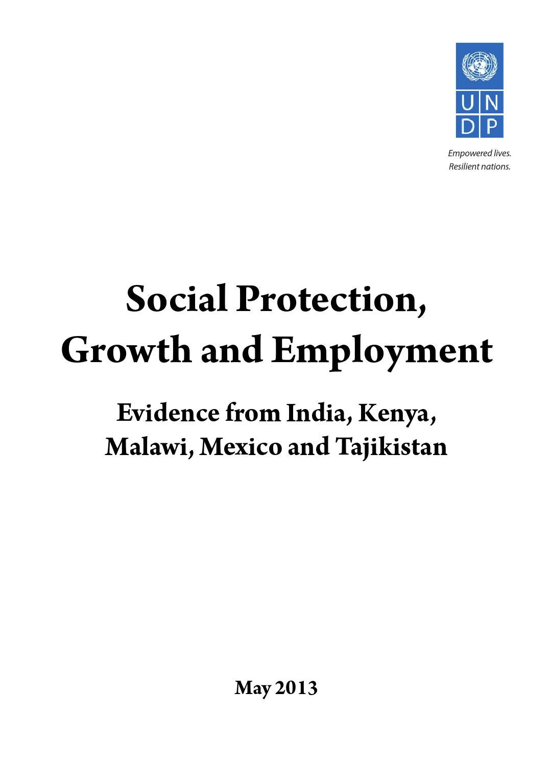 Social Protection Growth And Employment By United Nations