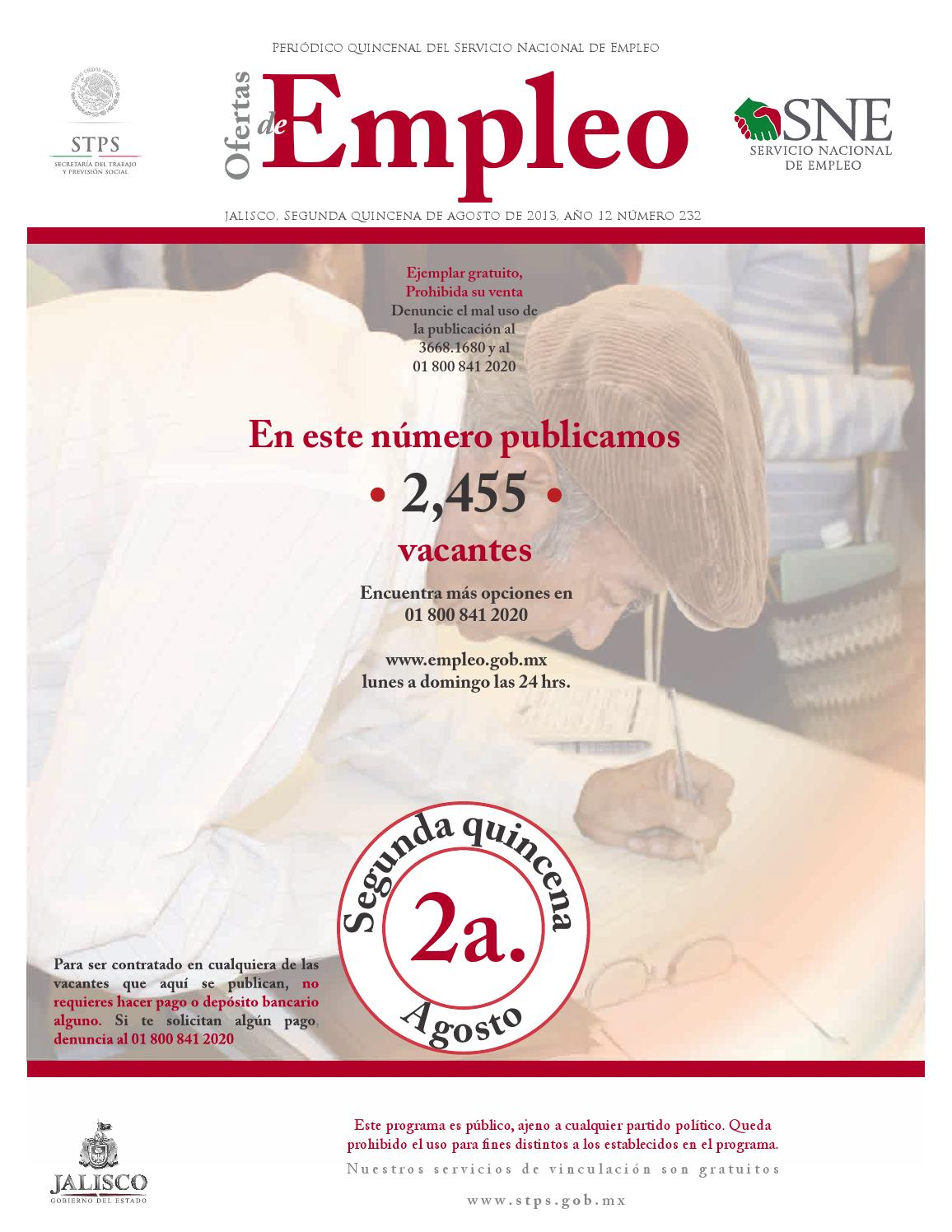 Peri Dico Ofertas De Empleo 2da Quincena Agosto By Comunicaci N  # Vacantes Muebles Dico Guadalajara