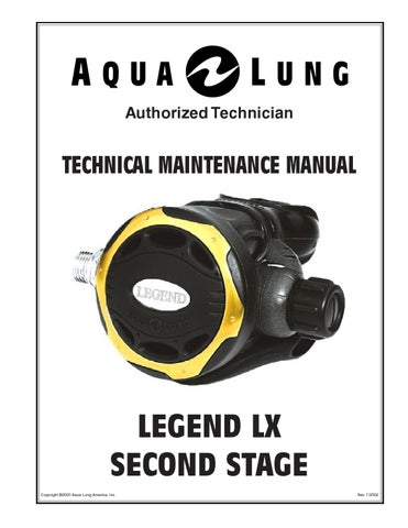 legend second stage service manual by coolcuttle issuu rh issuu com aqualung legend lx service manual