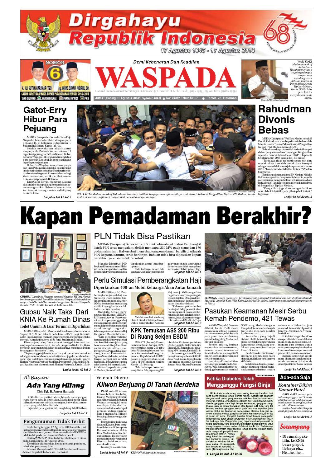 Waspada Jumat 16 Agustus 2013 By Harian Waspada Issuu