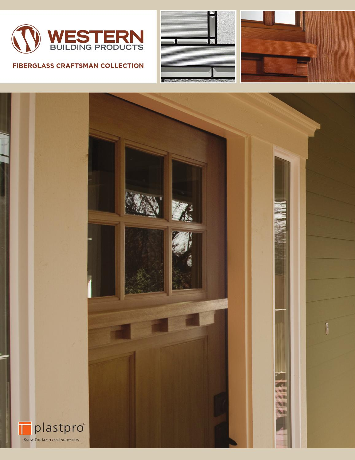 Craftsman fiberglass doors by western building products issuu for Western building products exterior doors