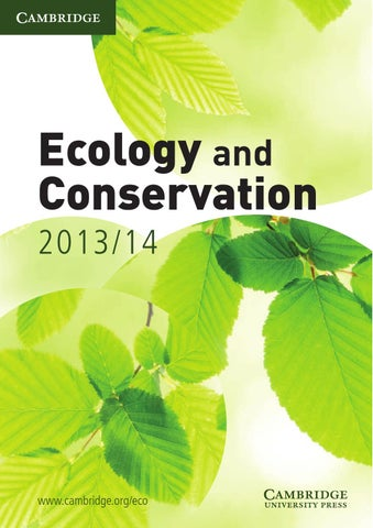 2009 ecology and conservation catalogue by cambridge university cambridge university press ecology and conservation 201314 catalogue fandeluxe Choice Image