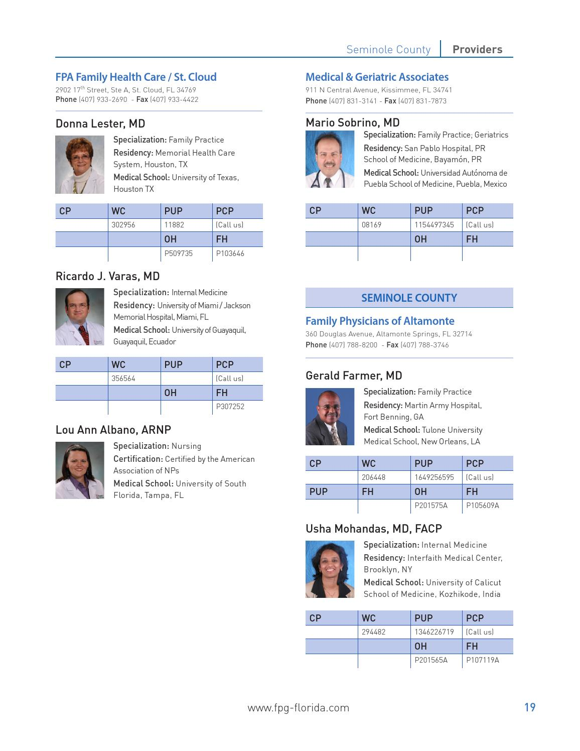 FPG Physicians Profiles by FPGFlorida - issuu
