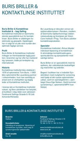 1b8c30364b2d BURIS BRILLER   KONTAKTLINSE INSTITUTTET Buris Briller   Kontaktlinse  Instituttet   - bag Salling Kontaktlinse Instituttet er Danmarks største  specialklinik ...