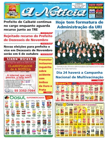 Edição de 17 e 18 de agosto de 2013 by Jornal A Notícia - issuu c15f26ba537ae