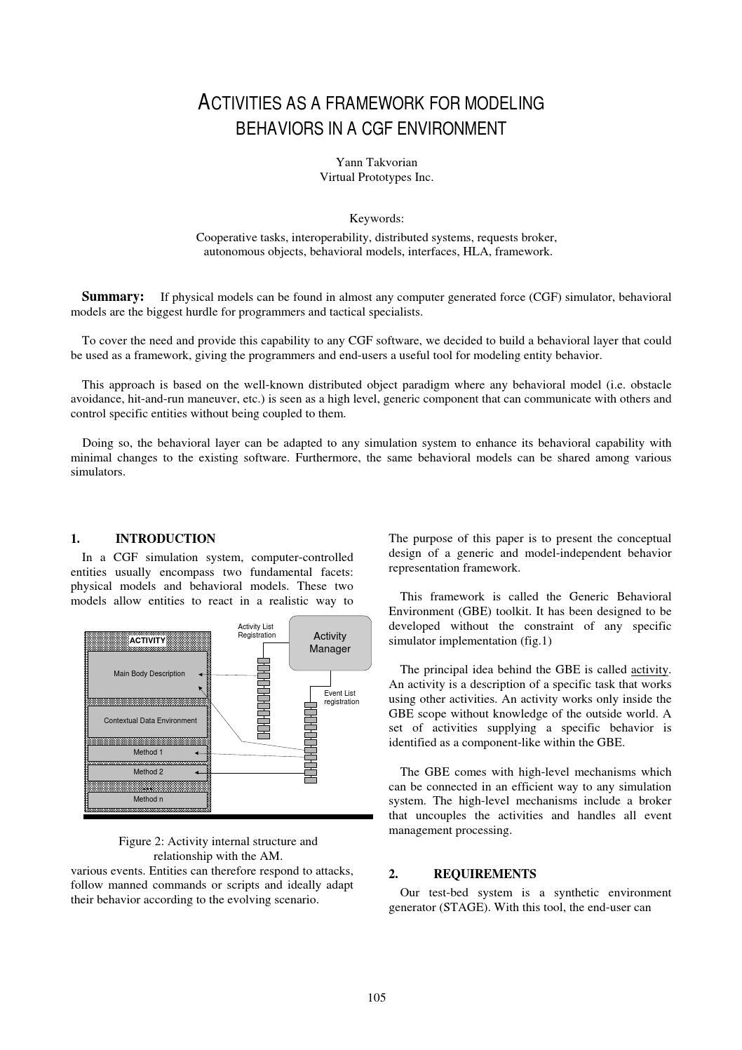 Activities as a framework by Yann Takvorian - issuu