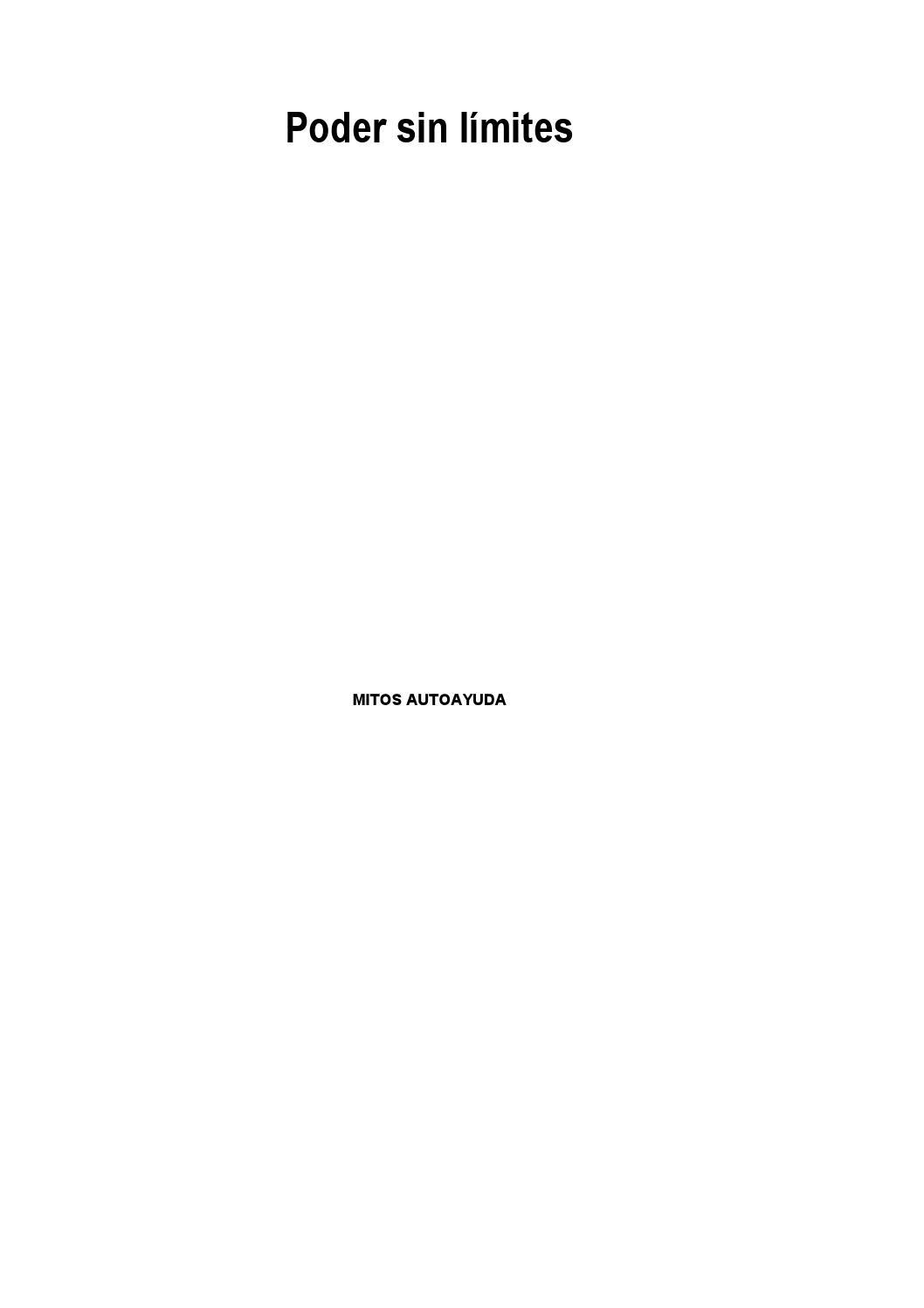 Poder sin limites anthony robbins by Jose Humberto Herrera Avila - issuu