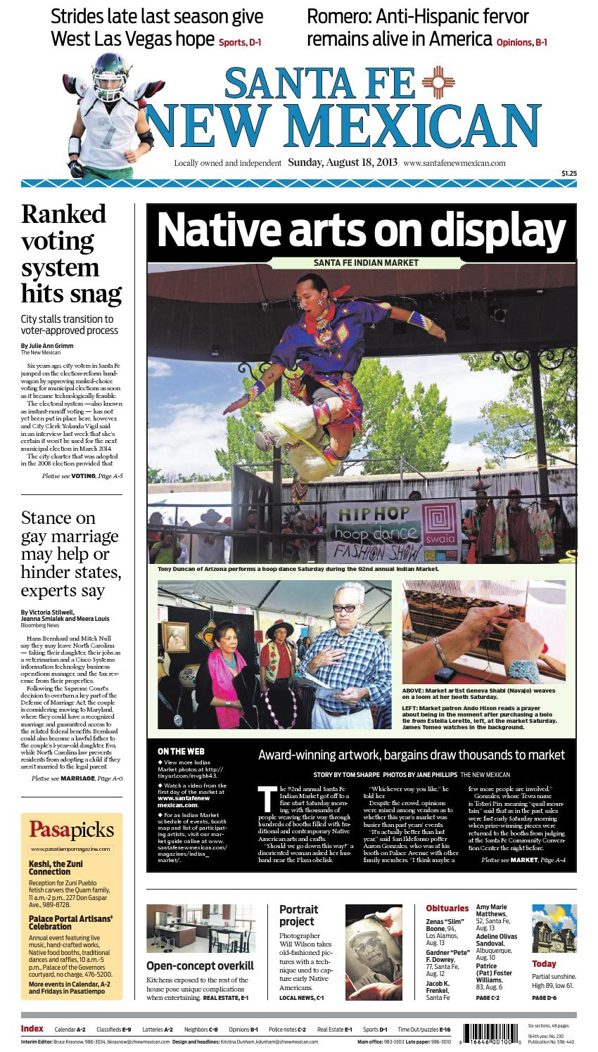 Santa Fe New Mexican, Aug. 18, 2013 by The New Mexican - issuu