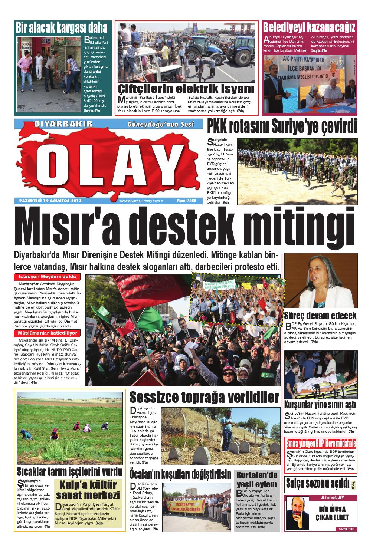 19 08 2013 Gazete Sayfalari By Diyarbakir Olaygazetesi Issuu
