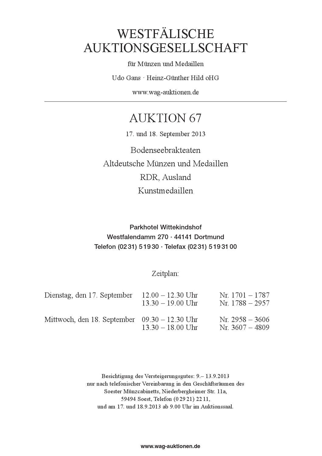 WAG Auktion 67 - Teil 1 / part 1 by WAG - issuu