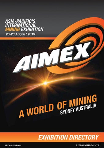 AIMEX 2013 Exhibition Directory by Reed Exhibitions AU - issuu