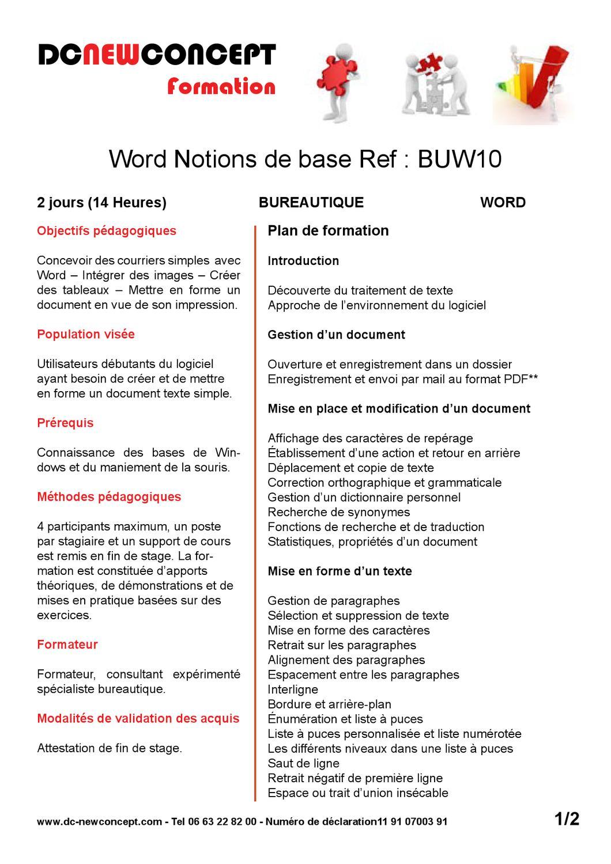 mettre un document word en format pdf