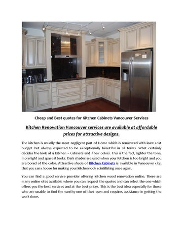 Cheap and Best quotes for Kitchen Cabinets Vancouver Services