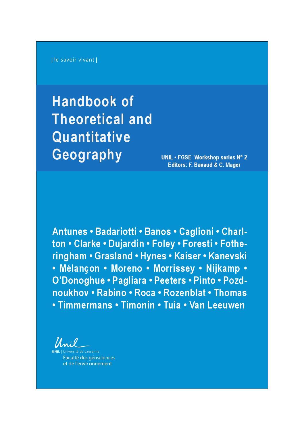 Handbook of theoritical and quantitative geography 2009 by handbook of theoritical and quantitative geography 2009 by institut de gographie et durabilit unil issuu buycottarizona