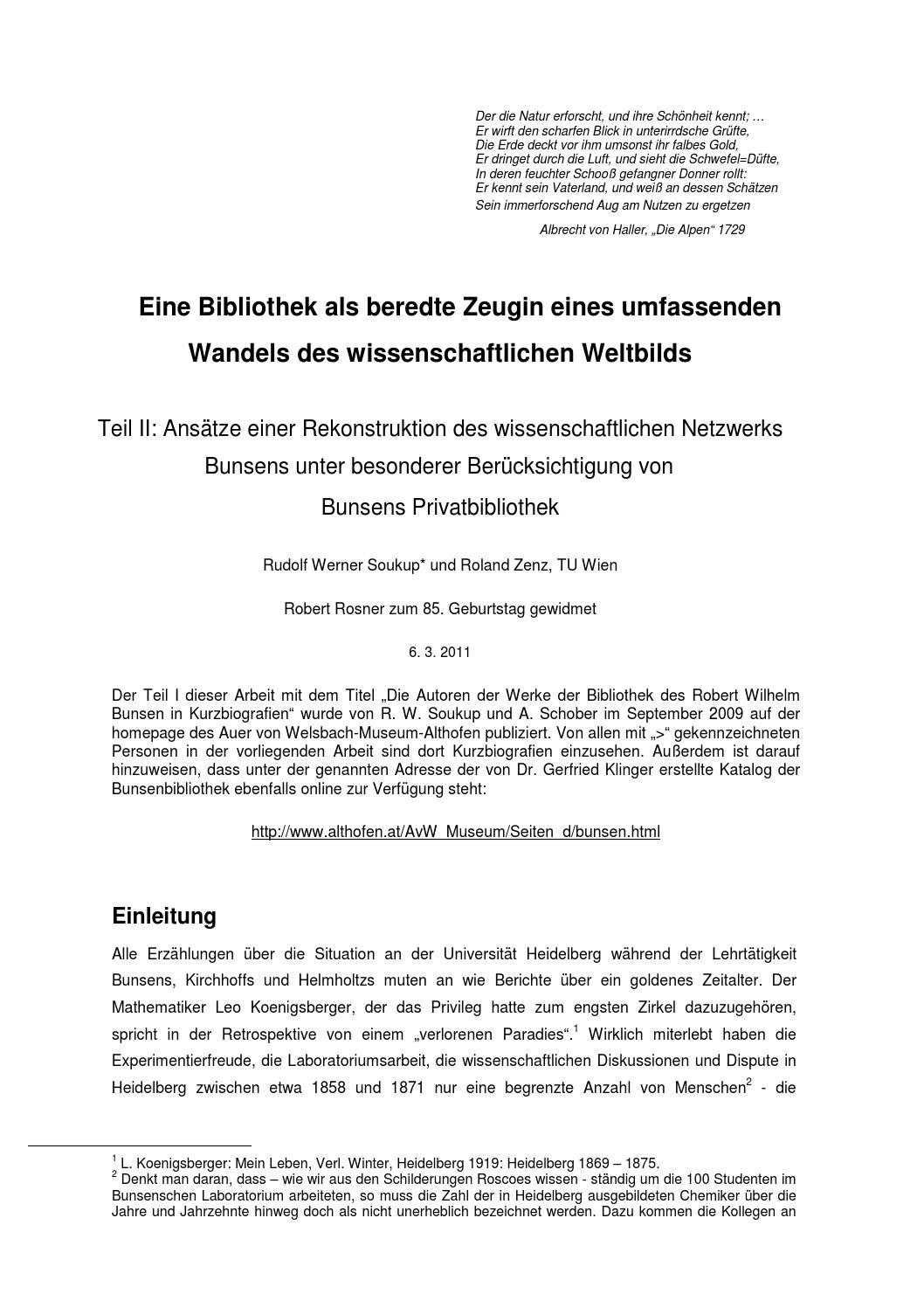 Autoren der Bunsenbibliothek, Teil 2 by Auer von Welsbach Museum - issuu