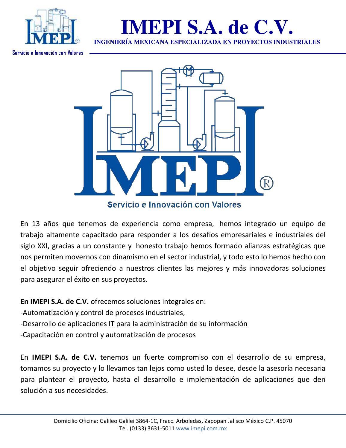 IMEPI S.A. de C.V. by IMEPI - issuu