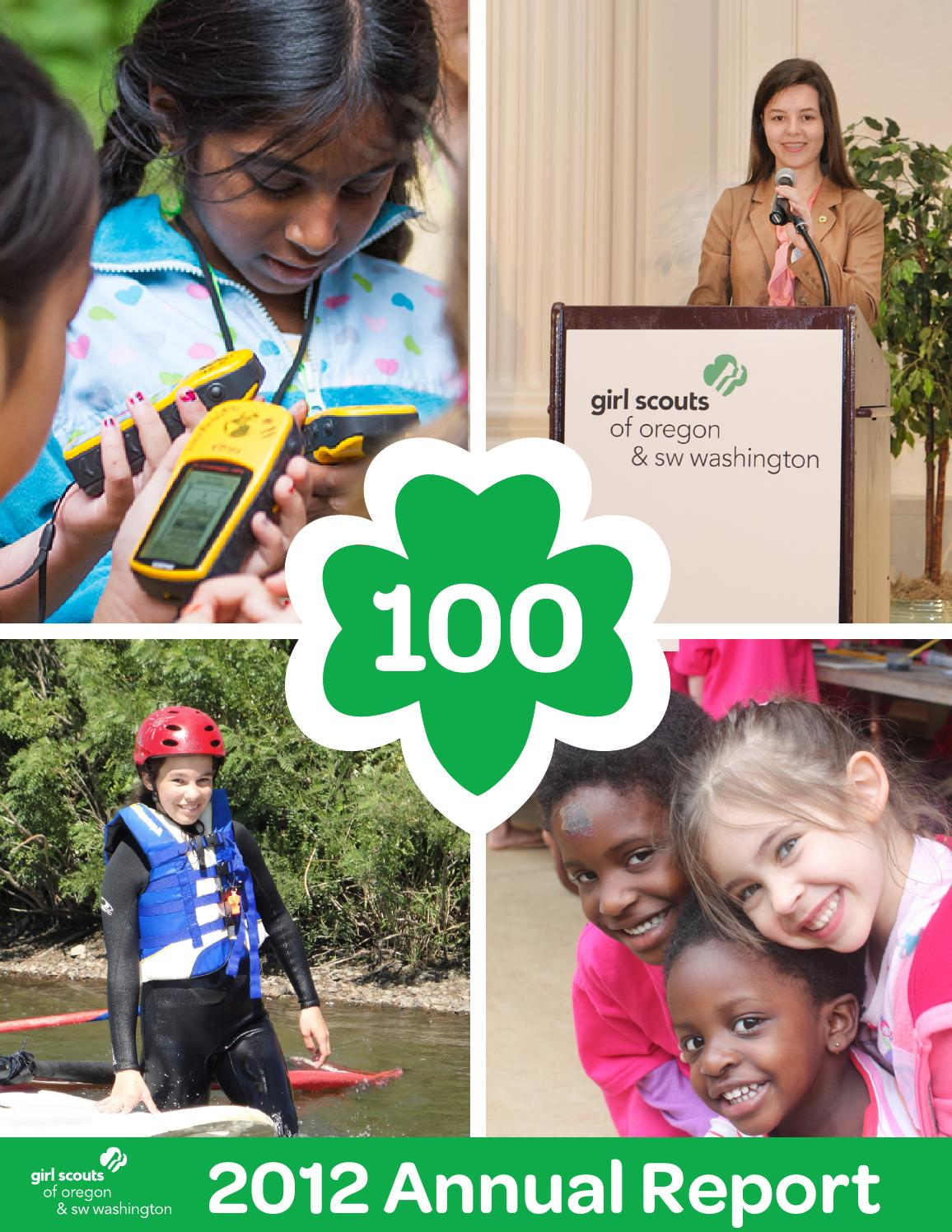 gsosw 2012 annual report by girl scouts of oregon and
