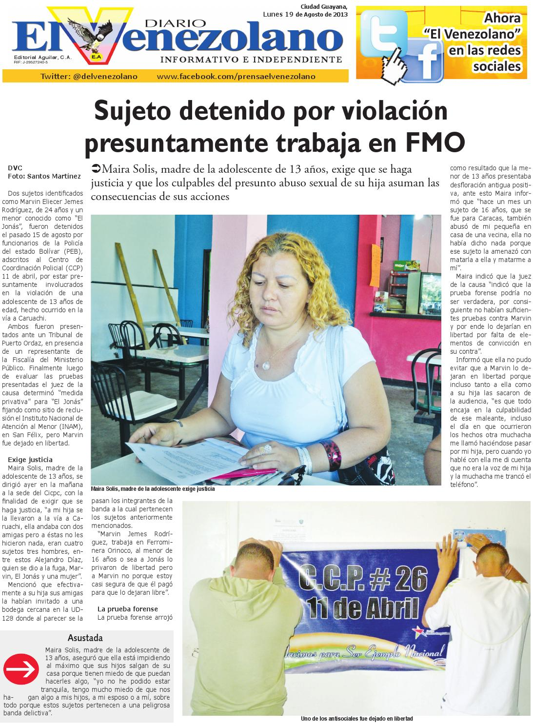 Lunes, 19 de agosto del 2013 by Diario El Venezolano Diario ...