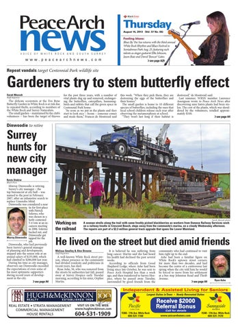b1372dcee Peace Arch News, August 15, 2013 by Black Press Media Group - issuu